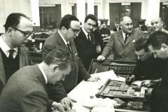 Sergio Maldini al Resto del Carlino con il Direttore Giovanni Spadolini