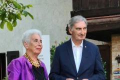 Franca Diamilla Magnelli Maldini con il Sindaco di Varmo Sergio Michelin