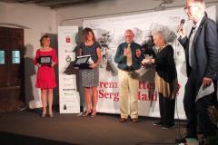 Premiazione della sezione giornalismo di viaggio Melania Lunazzi, Stefani Bacchini, Gianni Marucelli da parte della Signora Franca Maldini
